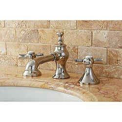 French Country Polished Nickel Widespread Bathroom Faucet
