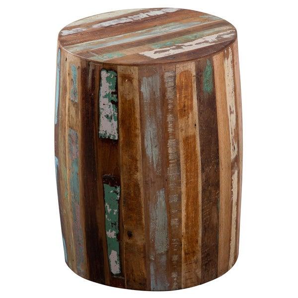 Reclaimed Wood Weathered Tanki Table (India)