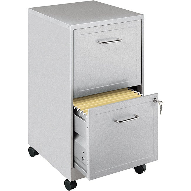 Office Designs Metallic Silver 2-drawer Mobile File Cabinet