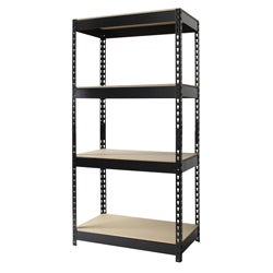 Iron Horse Riveted Steel 4-shelf Shelving Unit