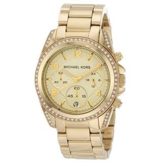 Michael Kors Women's MK5166 Blair Goldtone Stainless Steel Chronograph Watch