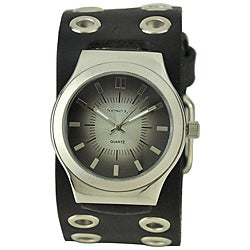 Nemesis Men's Classico Black Leather Band Watch