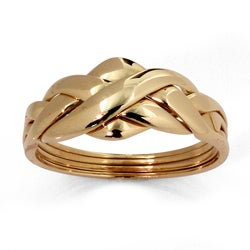 PalmBeach 10k Yellow Gold Puzzle Ring Tailored