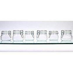 Borgonovo Hermetic 17-oz Jars (Pack of 6)