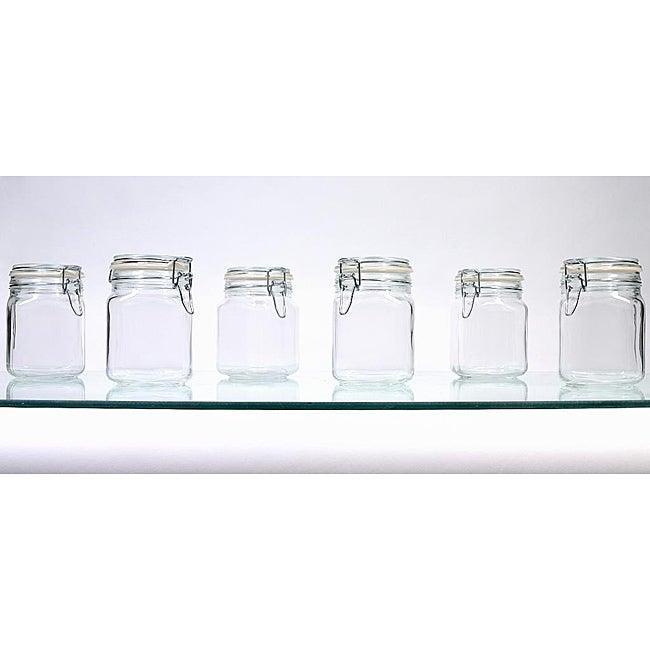 Borgonovo Hermetic 34-oz Jars (Pack of 6)