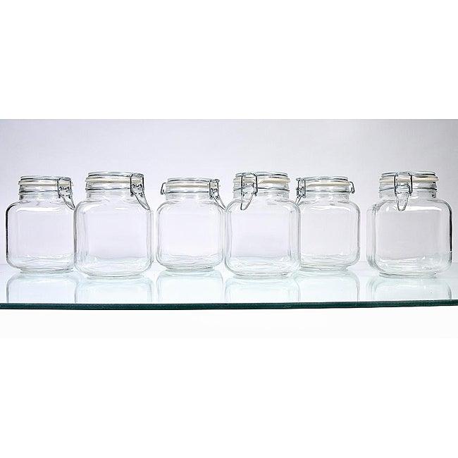Borgonovo Hermetic 68-oz Jars (Pack of 6)