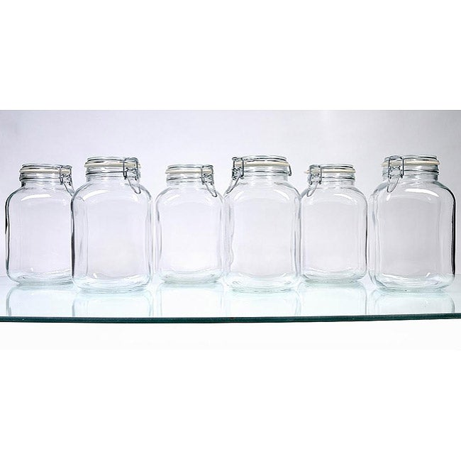 Borgonovo Hermetic 105-oz Jars (Pack of 6)