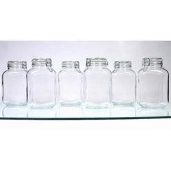 Borgonovo Hermetic 105-oz Jars (Pack of 6)