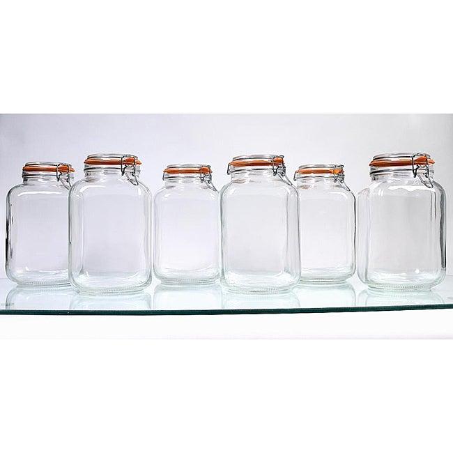 Borgonovo Hermetic 145-oz Jars (Pack of 6)