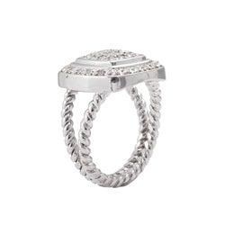 Sterling Silver 1/2ct TDW Diamond Square Halo Ring (J-K, I3)