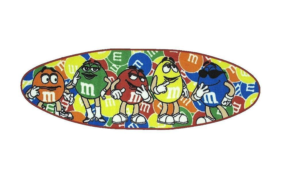 M&M's Surfboard Party Rug (1'7 x 2'5)