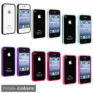 INSTEN Premium Apple iPhone 4 TPU Bumper Phone Case Cover