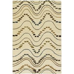 Hand-Knotted Mandara Gold New Zealand Wool Rug (9' x 13')