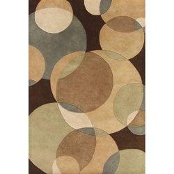 Alliyah Handmade Brown New Zealand Blend Wool Rug (4' x 6')