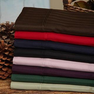 Simple Elegance Egyptian Cotton 300 Thread Count Stripe Split King Sheet Set