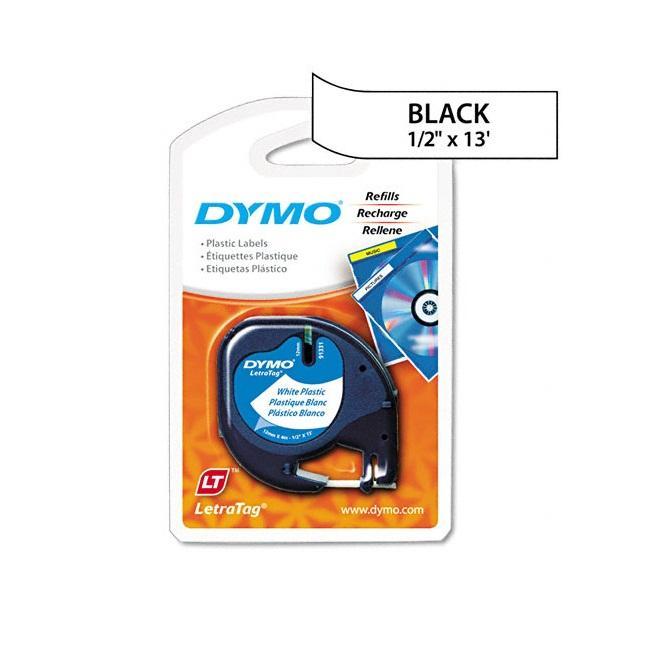 Dymo LetraTag White Plastic 0.5-in Label Tape Cassette
