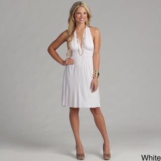 Elan Women's Empire-waist T-back Dress