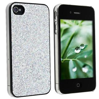Snap-on Silver Bling Case for Apple iPhone 4