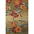 Nepalese Hand-knotted Kimono Gold Wool Rug (6' x 9')