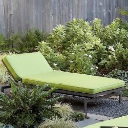 Alyssa Canvas Macaw Green Outdoor Chaise with Sunbrella Fabric Cushion