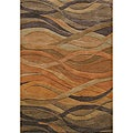 Alliyah Handmade Multi Abstract New Zealand Blend Wool Rug (9' x 12')