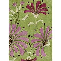 Alliyah HandmadeGreen New Zealand Blend Wool Rug (8' x 10')