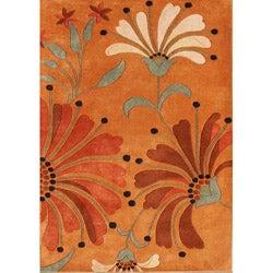 Alliyah Handmade Rust New Zealand Blend Wool Rug g (8' x 10')