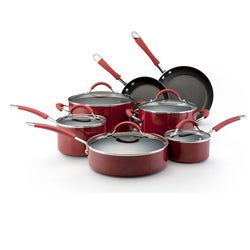 KitchenAid Porcelain Red 12-piece Nonstick Cookware Set