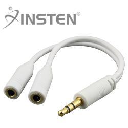 INSTEN White Headset Splitter for Apple iPhone 4/ 4S/5/ 5S/ 6