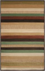 Woven Warm Stripes Natural Indoor/Outdoor Rug (5' x 7'6)