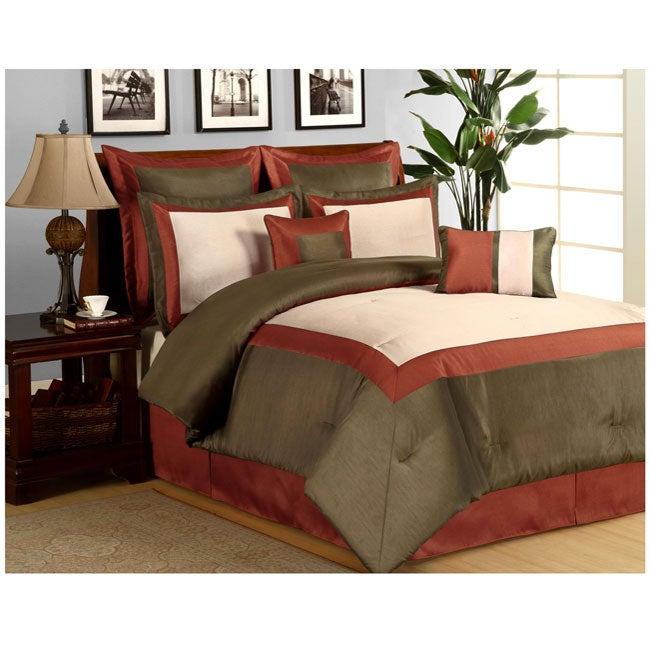 Hotel Rust 8-piece Comforter Set