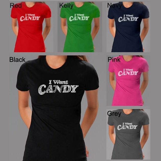 Los Angeles Pop Art Women's 'Candy' T-shirt