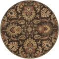 Hand-tufted Grand Chocolate Brown Floral Wool Rug (6' Round)