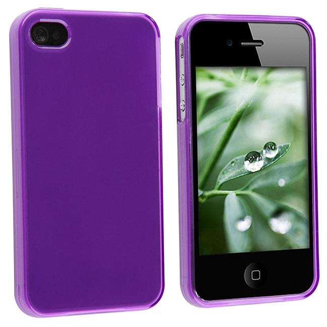 Frost Purple TPU Rubber Case for Apple iPhone 4