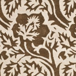 "Safavieh Handmade Contemporary Soho Brown/Ivory New Zealand Wool Rug with Cotton-Canvas Backing (7'6"" x 9'6"")"