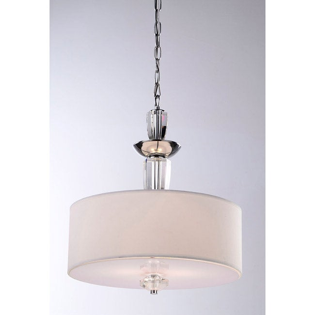 Contemporary Crystal Base 3-light Pendant Chandelier