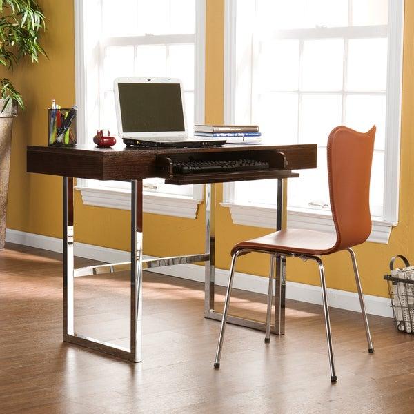 Tantallon Espresso and Chrome Desk