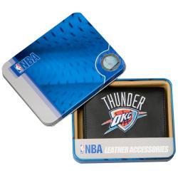 Oklahoma City Thunder Men's Black Leather Tri-fold Wallet