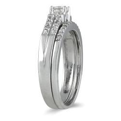 10k White Gold 2/5ct TDW Prong-set Diamond Bridal Ring Set (I-J, I1-I2)