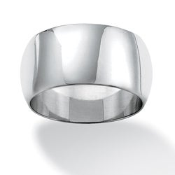PalmBeach Sterling Silver Polished Band Tailored
