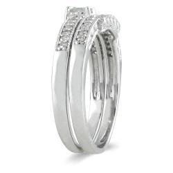 10k White Gold 2/5ct TDW Diamond Bridal Ring Set (I-J, I1-I2)