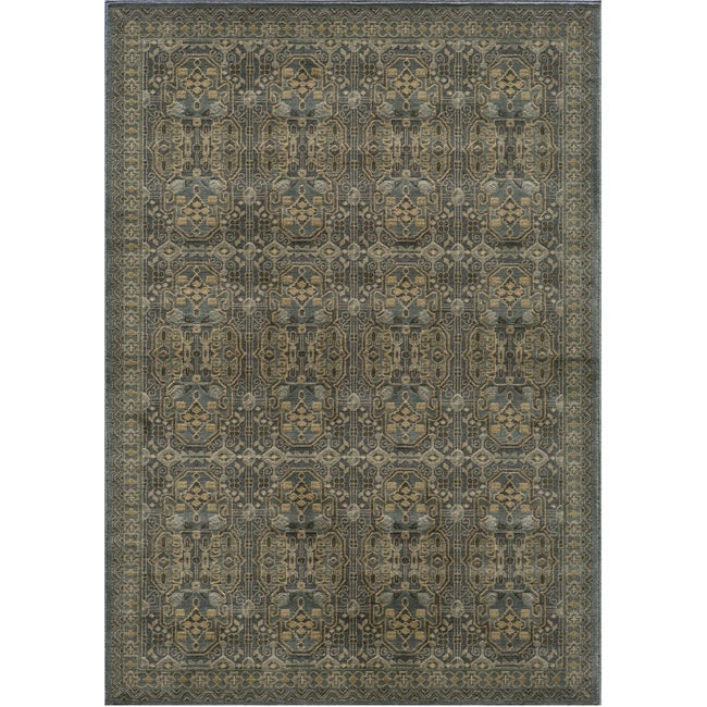 Preston Blue Agra Rug (7'10 x 9'10)