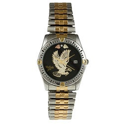 Black Hills Gold Mens Stainless Steel Eagle Watch