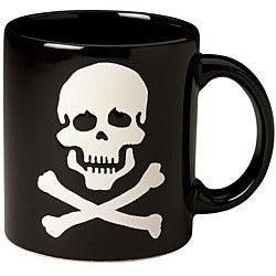 Waechtersbach Black Skull Mugs (Set of 4)