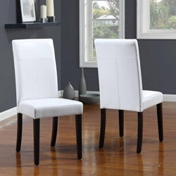 White T-Back Parsons Chair (Set of 2)