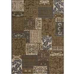 Dream Power-loomed Damask Brown Rug (9'3 x 12'6)