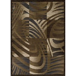 Dream Abstract Blocks Gold Rug (9'3 x 12'6)