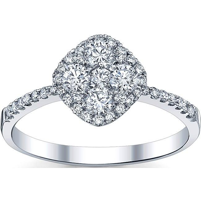 18k White Gold 3/4ct TDW Diamond Engagement Ring (G-H, SI1-SI2)