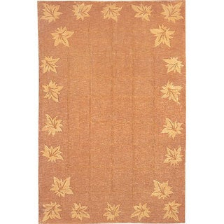 ABBYSON LIVINGHand-knotted 'Oceans of Time' Gold Wool Rug (9' x 12')