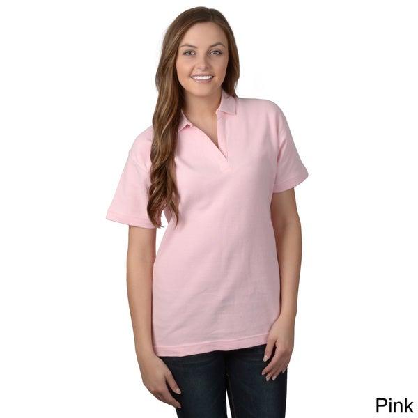 ADI Ultra Women's Unlined Double-Pique Short-Sleeve Polo Shirt